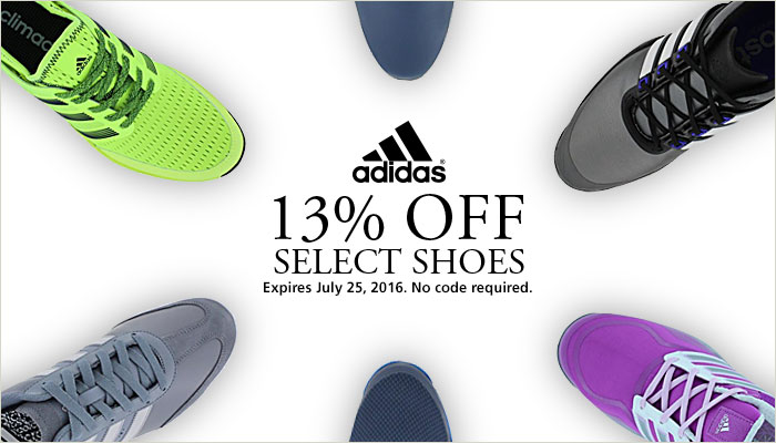 13% Off Select adidas Shoes