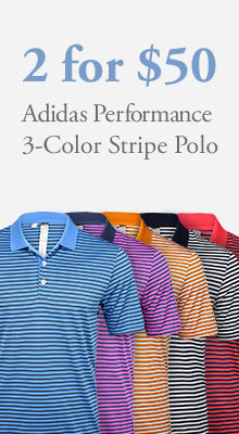 Adidas Performance 3-Color Stripe Polos 2 for $50.