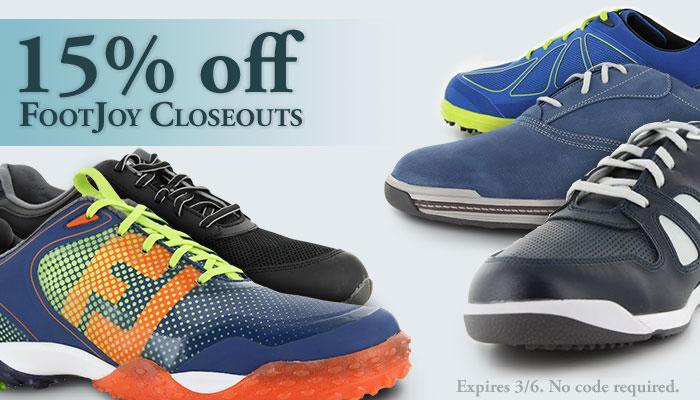 15% FootJoy Closeouts
