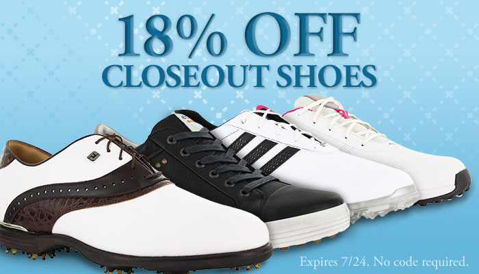 18% Off Closeout Shoes