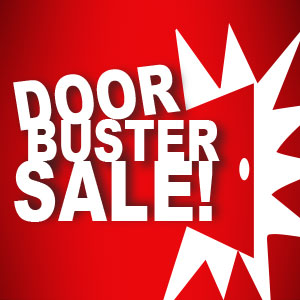 DOORBUSTERS - While Supplies Last - Limited Time Offer Ends at Noon EST